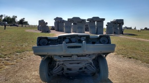 "Carhenge from the cadillac ""heelstone""."