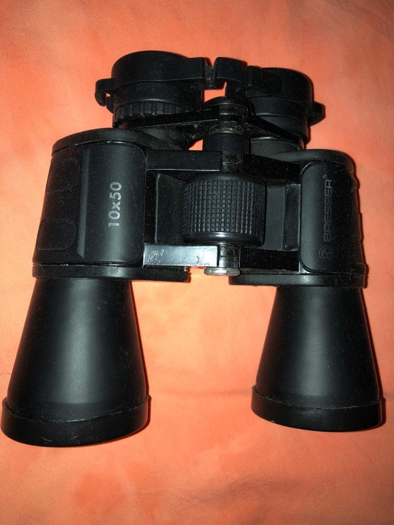 My old dusty binoculars Bresser 10 x 50