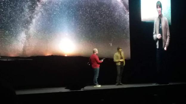 Prof Brian Cox Science communicator and particle physicist  and comedian Robin Ince at the Universal show in Auckland. Photo credit: Holly